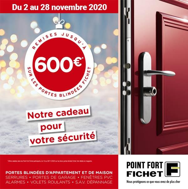Remise 600 euros sur les portes blindées Fichet à Pontoise